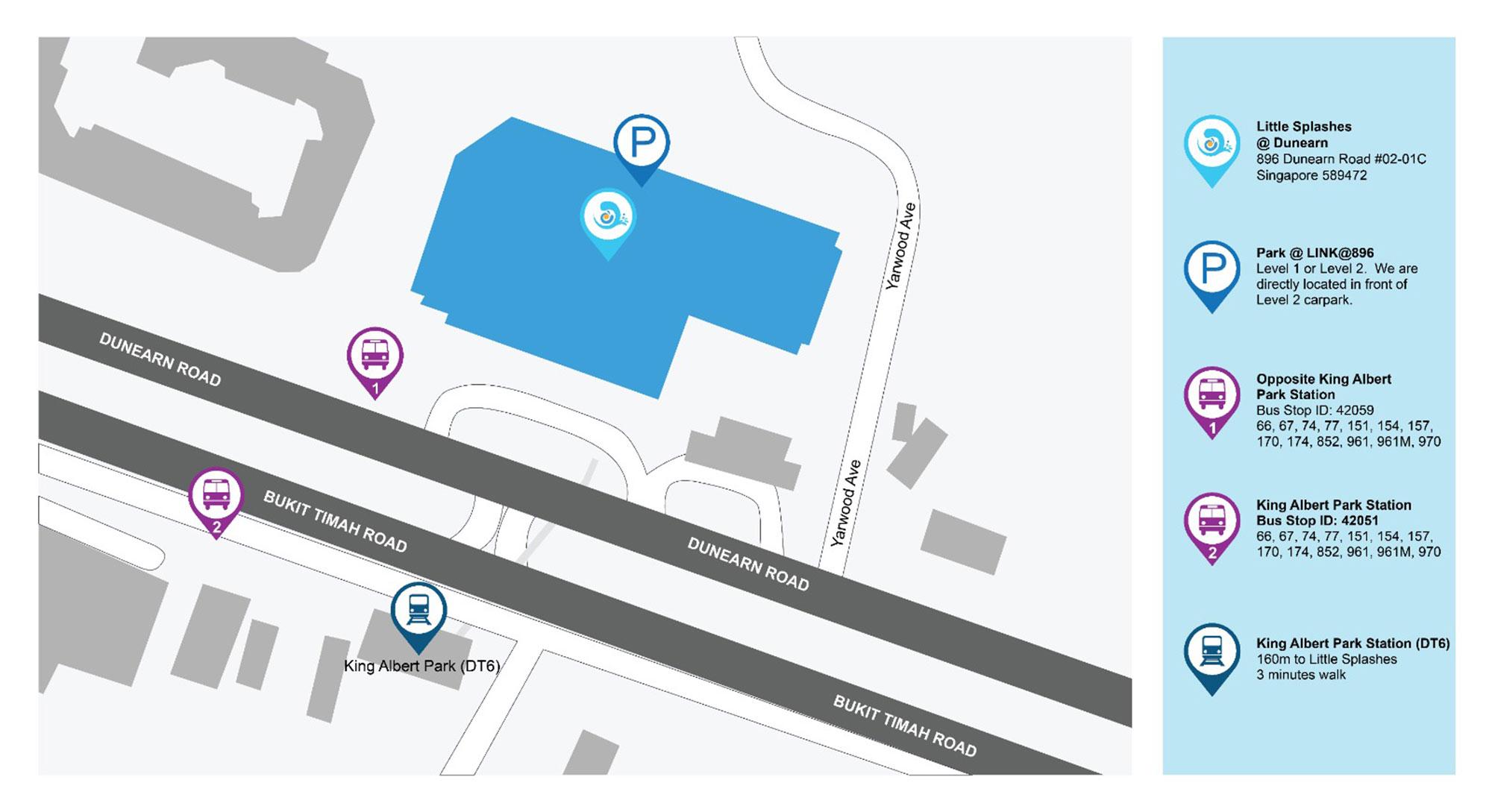 Little Splashes Aquatics - King Albert Park Outlet Location Map